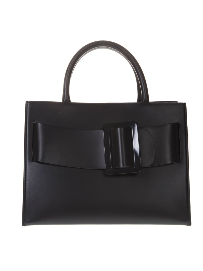 BOYY Bobby Black Leather Tote Bag - Black