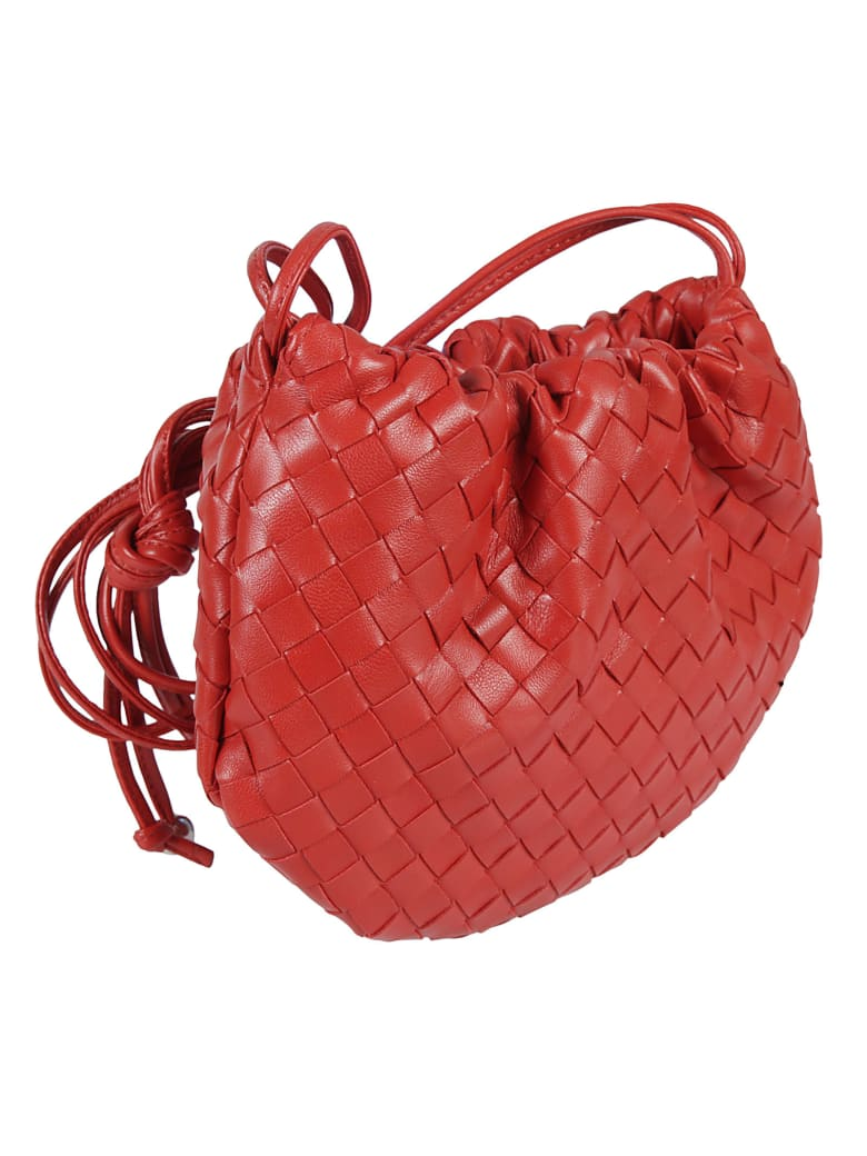 Bottega Veneta Woven Shoulder Bag - Chili/Silver
