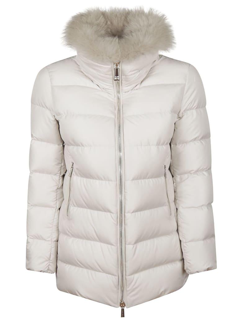 Moorer Fur Padded Jacket - Ivory