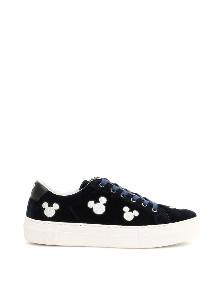M.O.A. master of arts Disney Victoria Sneakers - BLACK SILVER (Blue)
