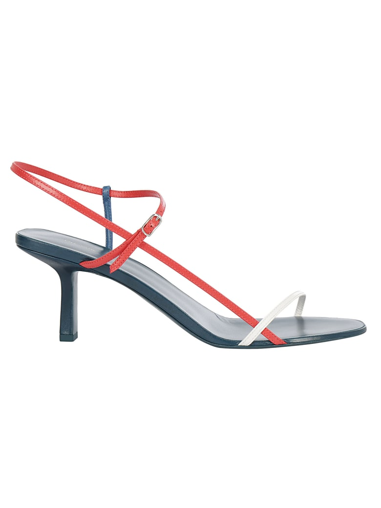 The Row Sandals - Teal poppy red