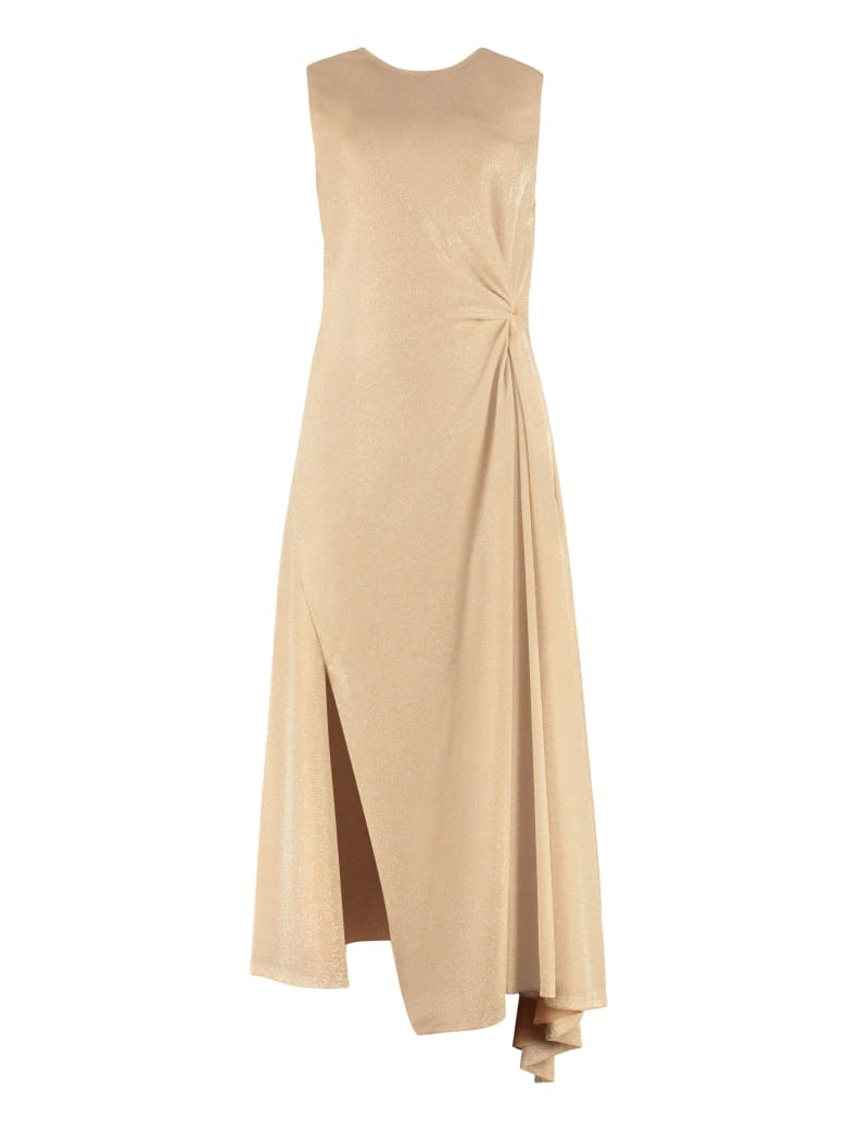 Lanvin Flared Lamè Dress - Gold