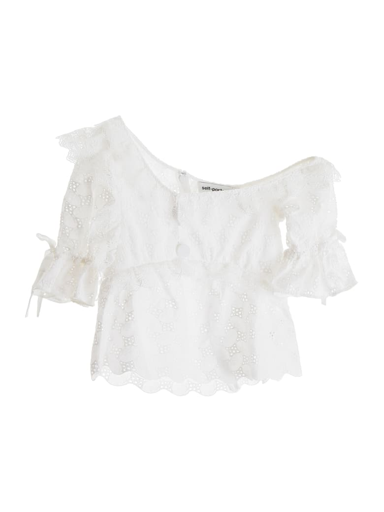 self-portrait Lace Top - IVORY (White)