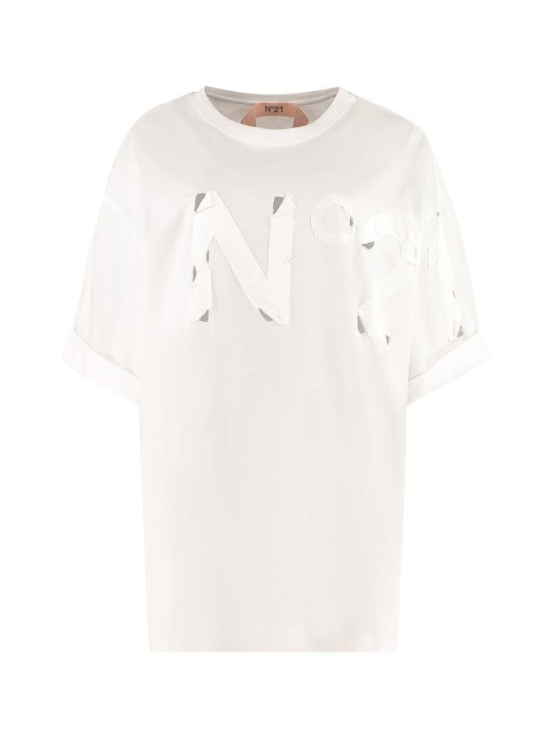 N.21 Oversize Cotton T-shirt - White