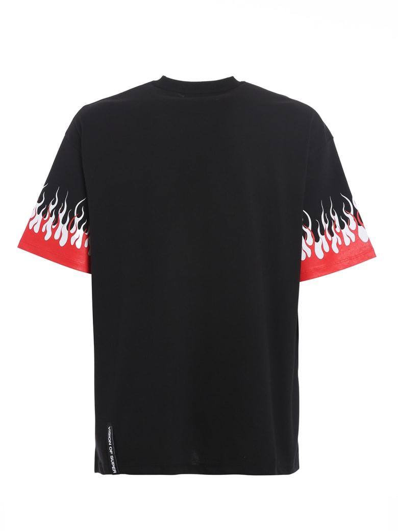Vision of Super Tshirt Double Flames - Black