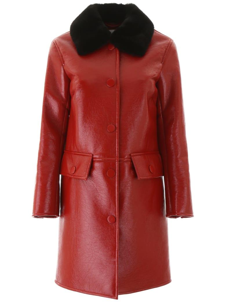 STAND STUDIO Gaia Coat - RED BLACK (Red)