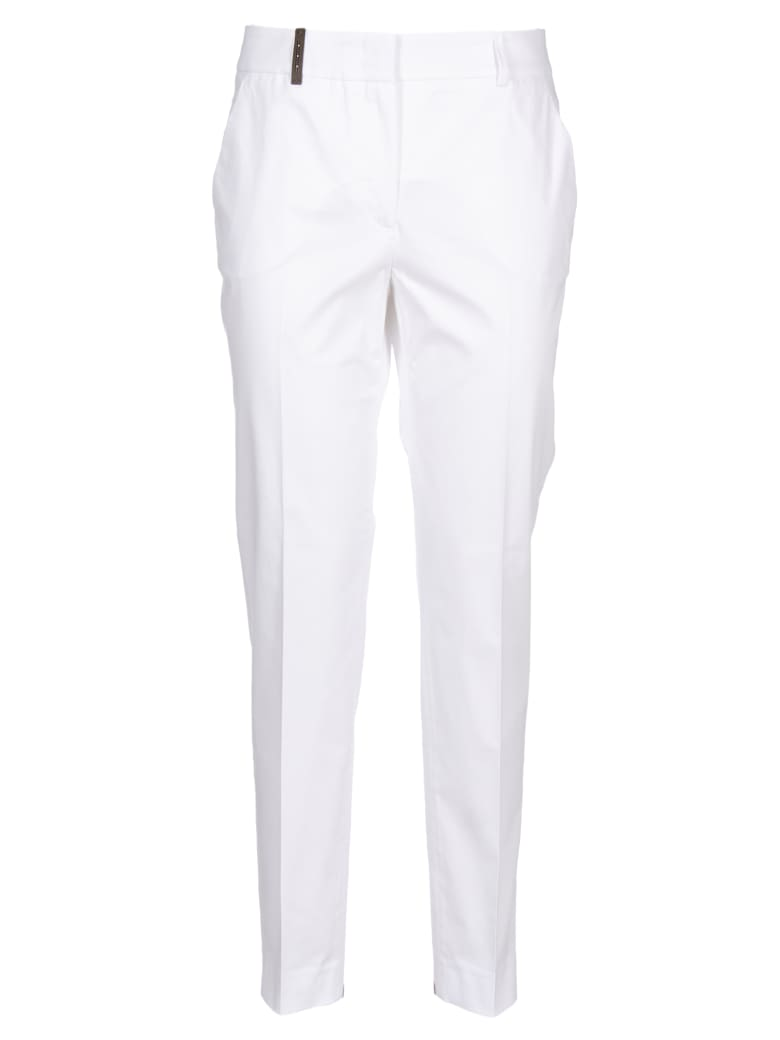 Peserico Cropped Trousers - White
