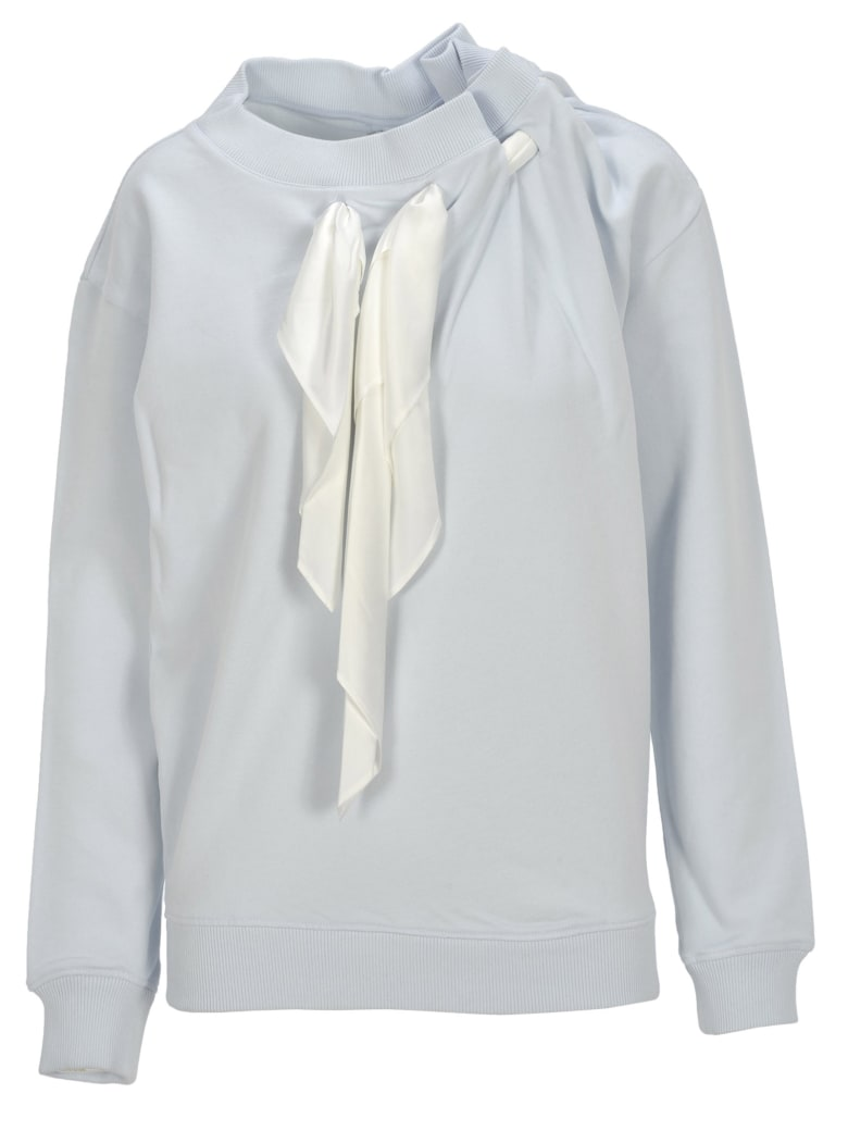 Y/Project Y / Project Scarf Detail Sweatshirt - LIGHT BLUE