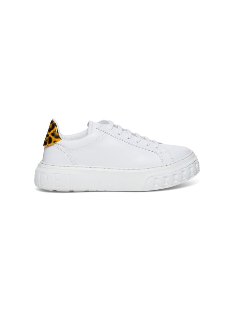 Casadei Sneakers With Animalier Detail - White