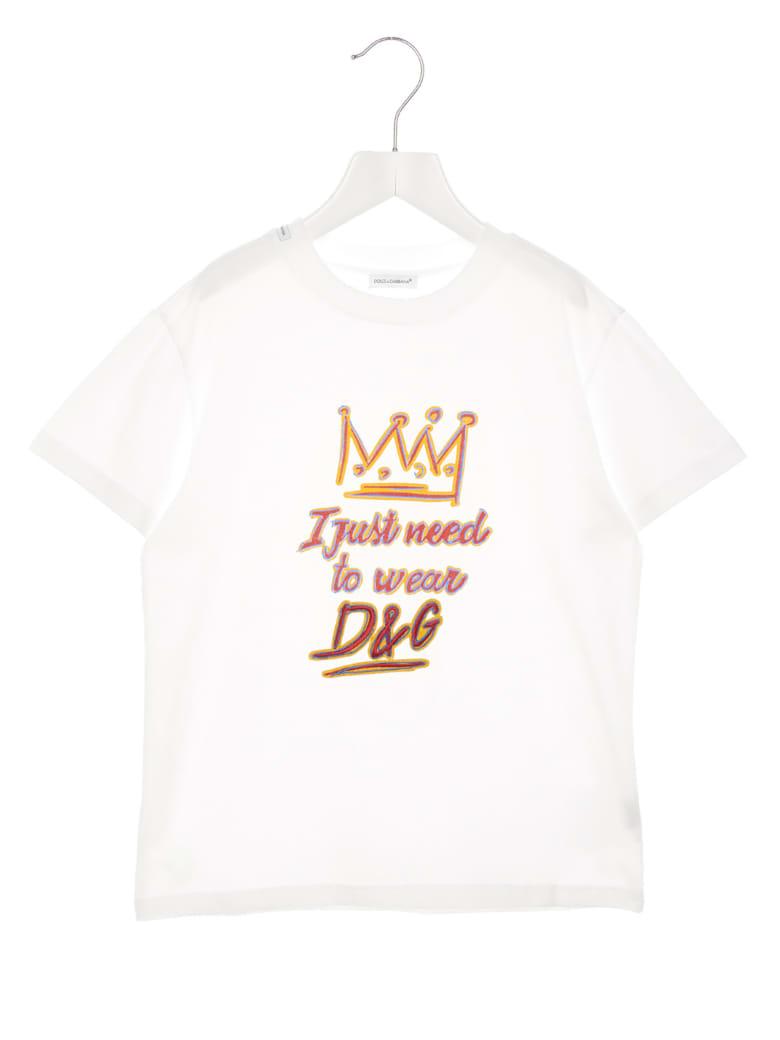 Dolce & Gabbana 'dg King' T-shirt - White