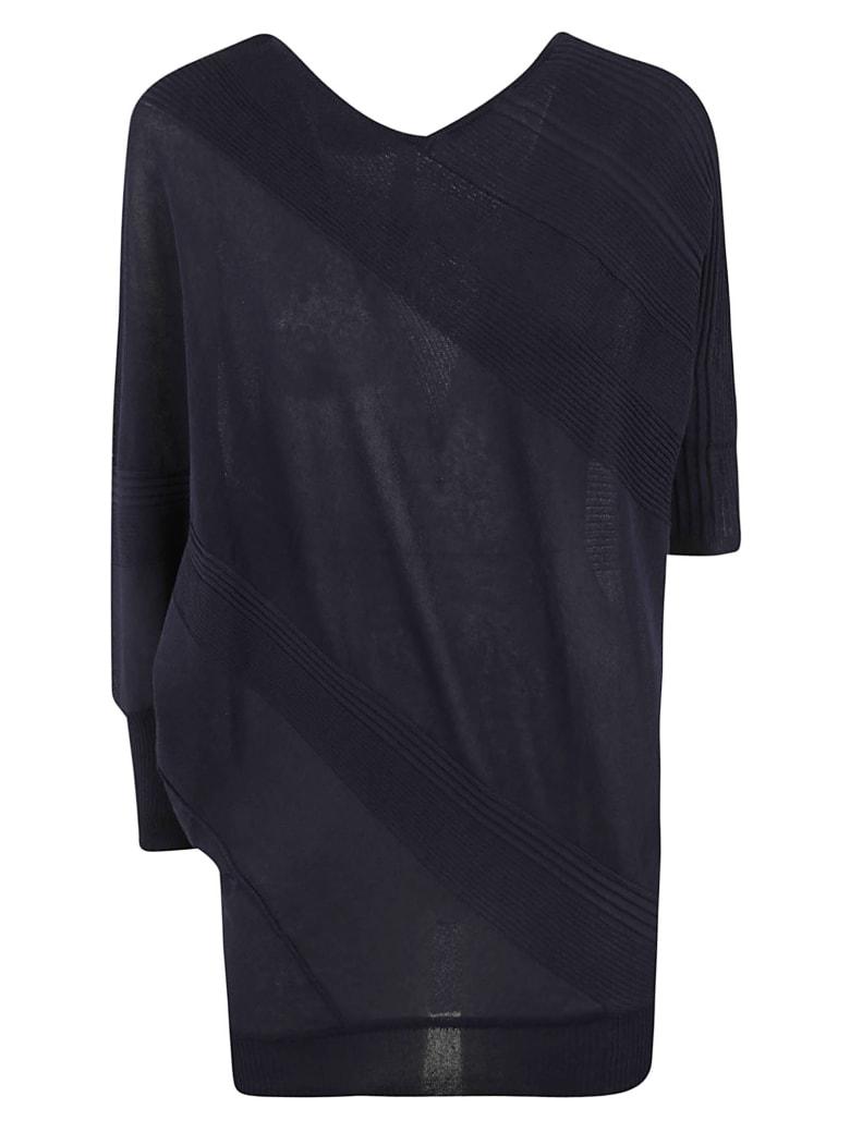 Antonio Marras V-neck Ribbed Mid-length Sweater - Blue