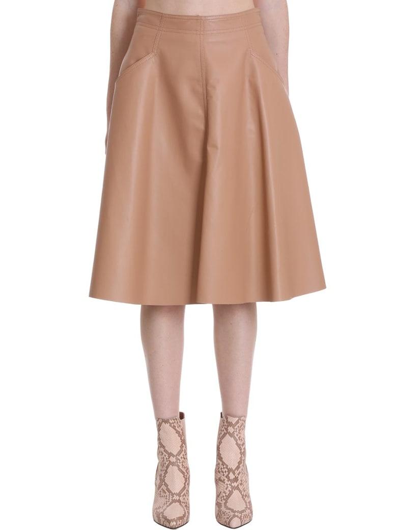 DROMe Skirt In Powder Leather - powder