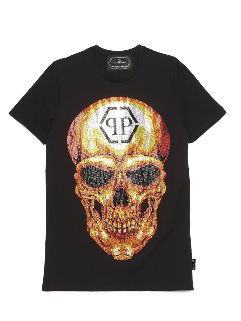 Philipp Plein 'skull Crystal' T-shirt - Black