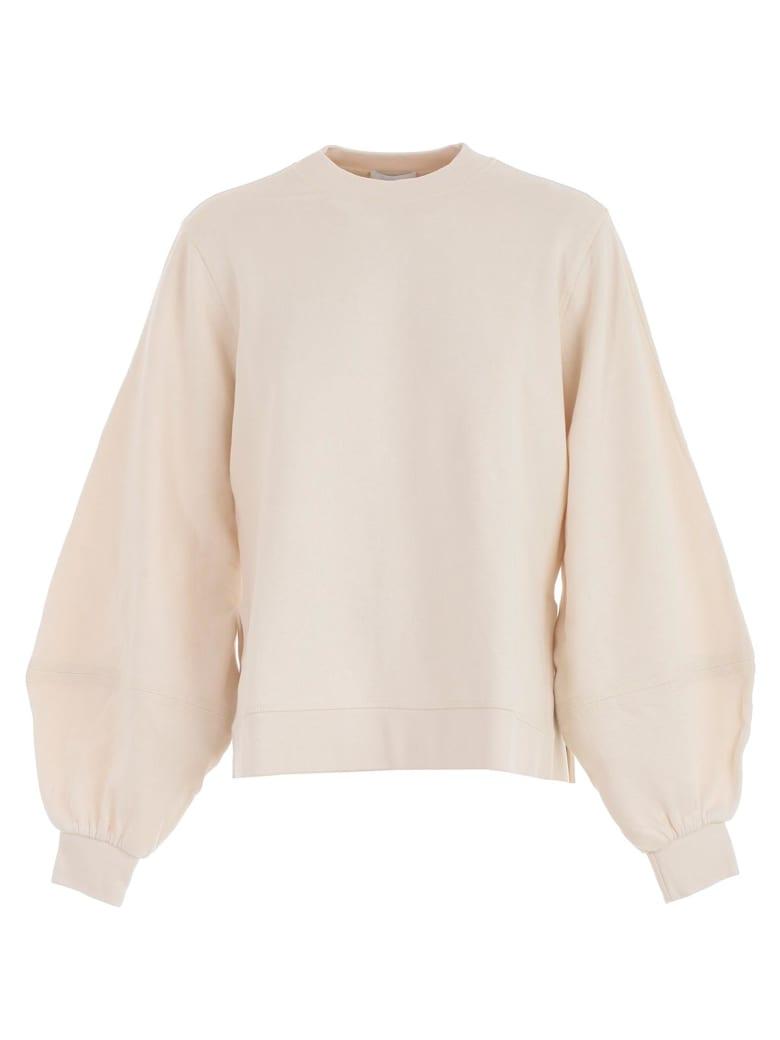 Ganni Sweatshirt W/stripes - Egret
