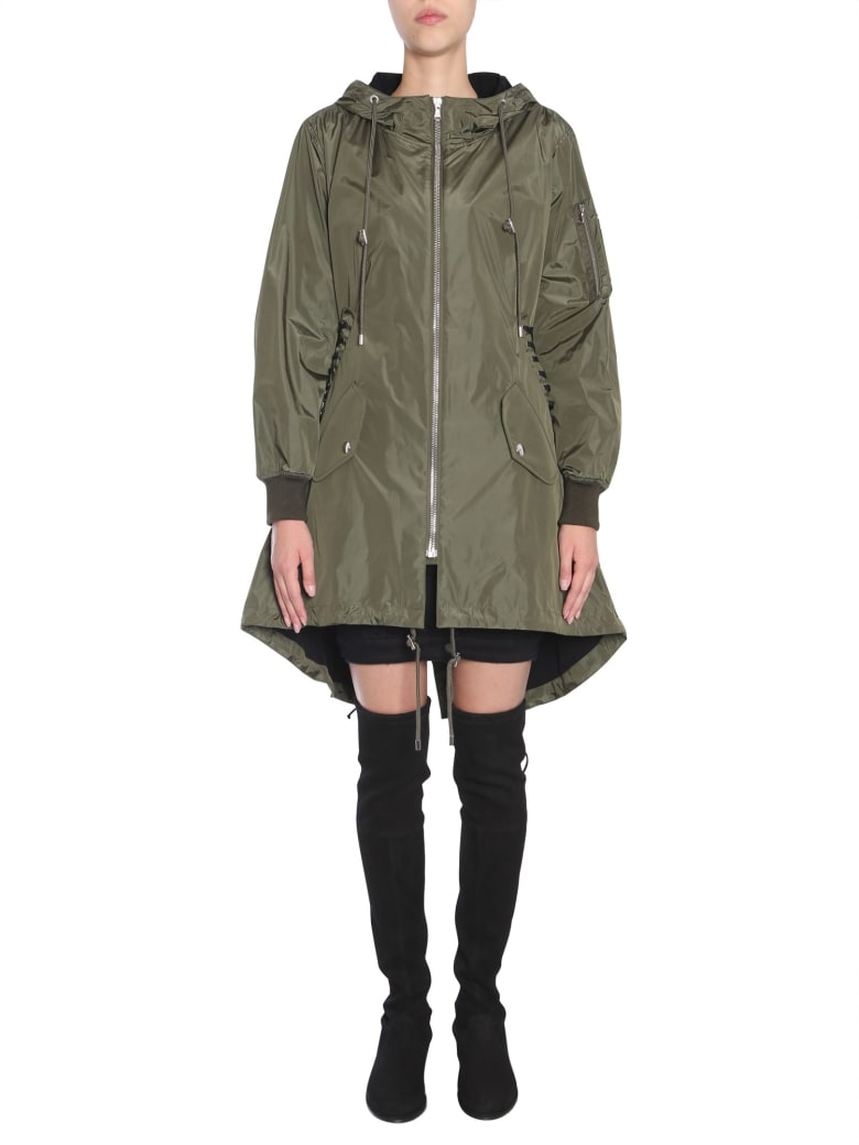 Moschino Parka With Lace-up Detail - MILITARE