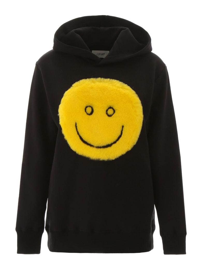 Kirin Hoodie With Faux Fur Smile - BLACK (Black)
