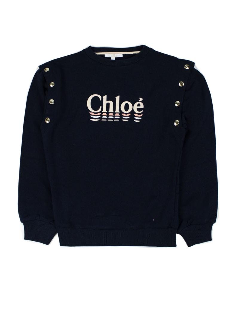 Chloé Blue Cotton Sweatshirt - Blu