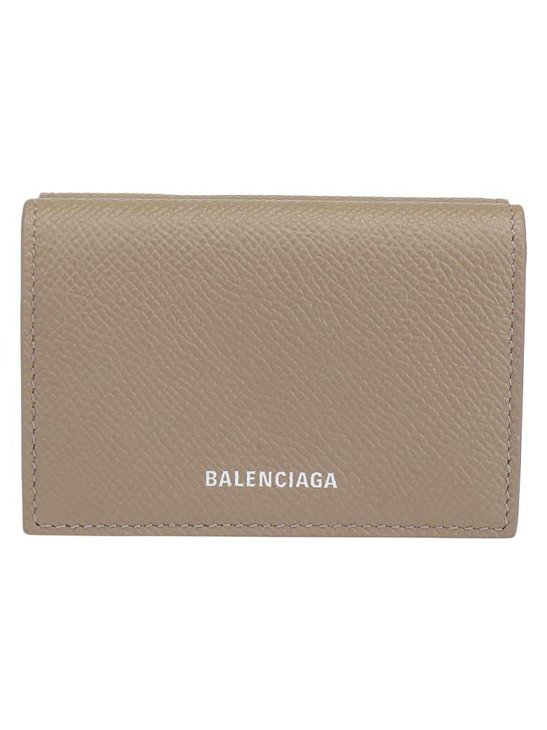 Balenciaga Wallet - Mink grey/white
