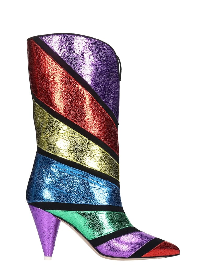 size 40 new images of new styles Best price on the market at italist | The Attico The Attico High Heels  Boots In Multicolor Leather