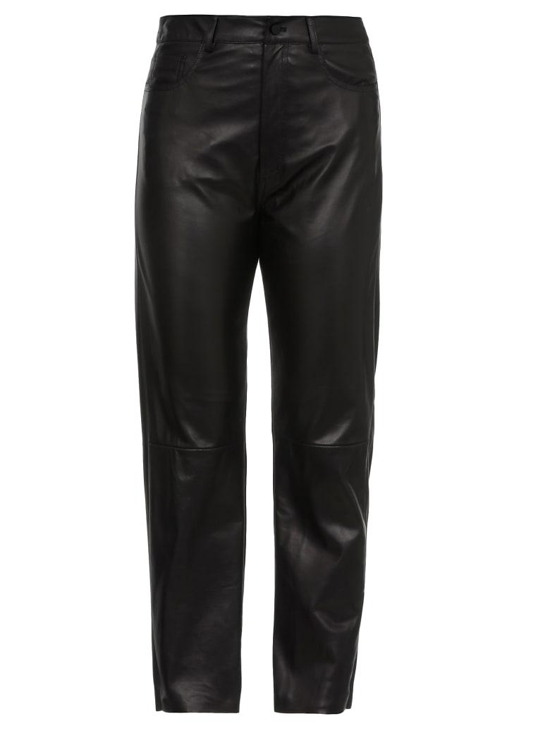 DROMe Leather Trousers - BLACK