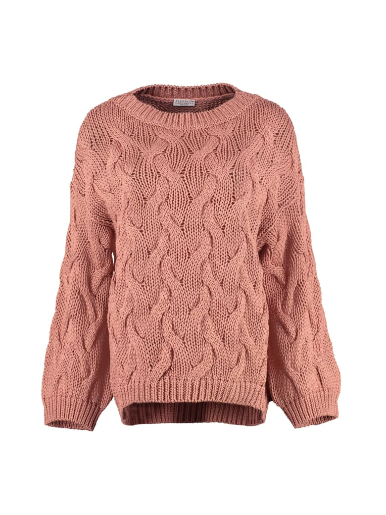 Brunello Cucinelli Cable Knit Sweater - Pink