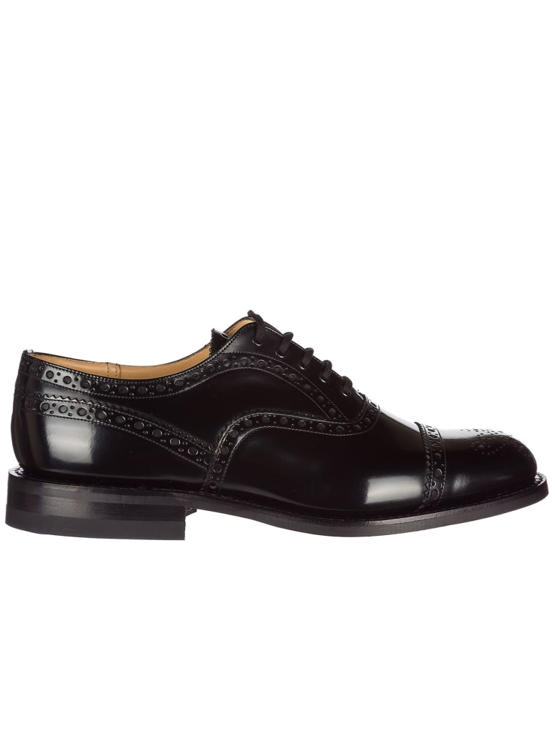 Church's  Classic Leather Lace Up Laced Formal Shoes Brogue Scalford - Black