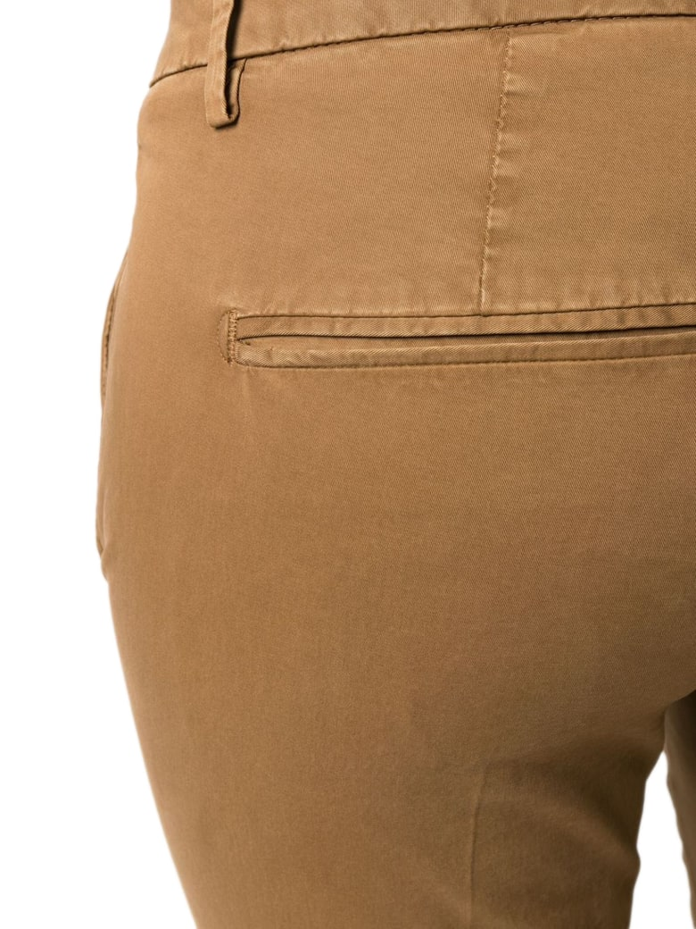Dondup Camel Cotton-blend Chino Trousers - Cammello