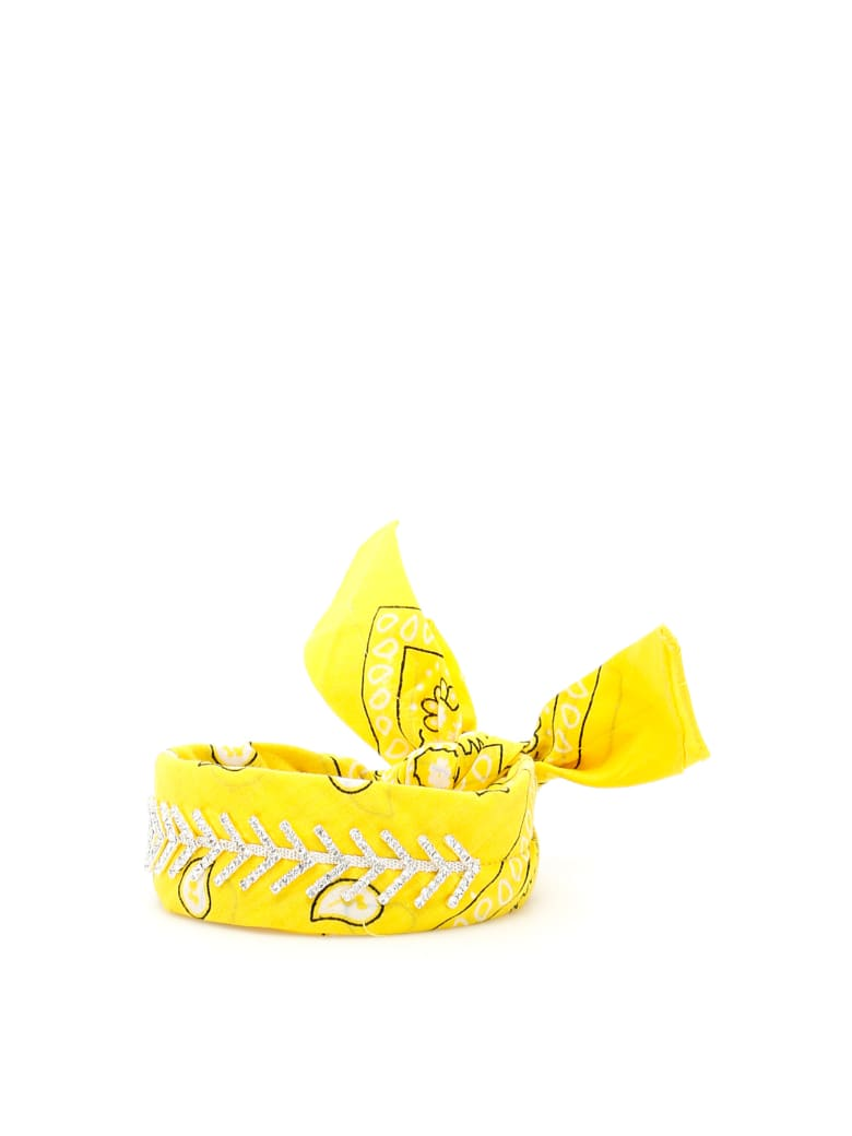 Fallon Monarch Diamante Choker - YELLOW (Yellow)