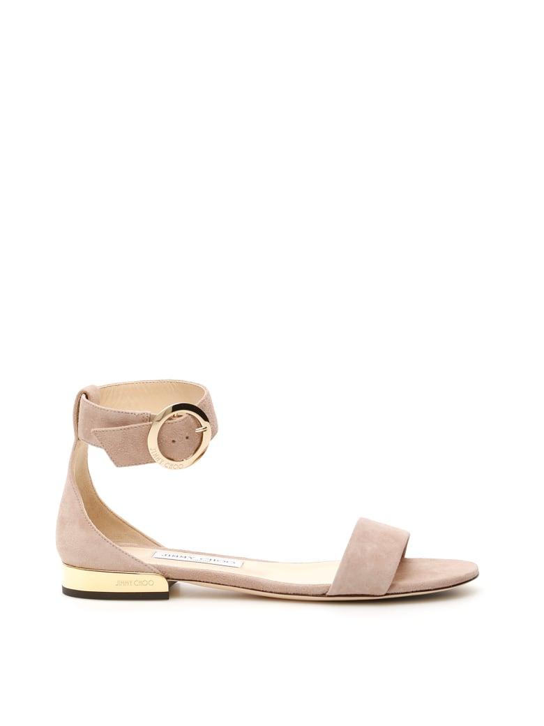 Jimmy Choo Jamie Flat Sandals - BALLET PINK (Beige)