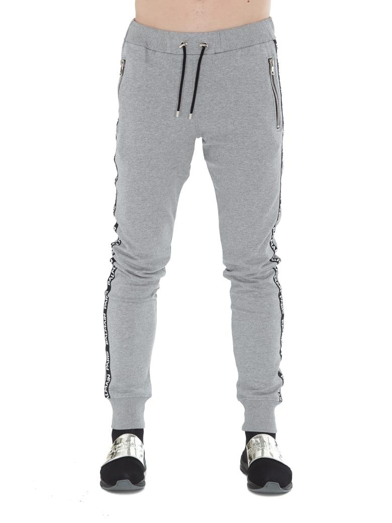 Balmain Logo Sweatpants - Grey