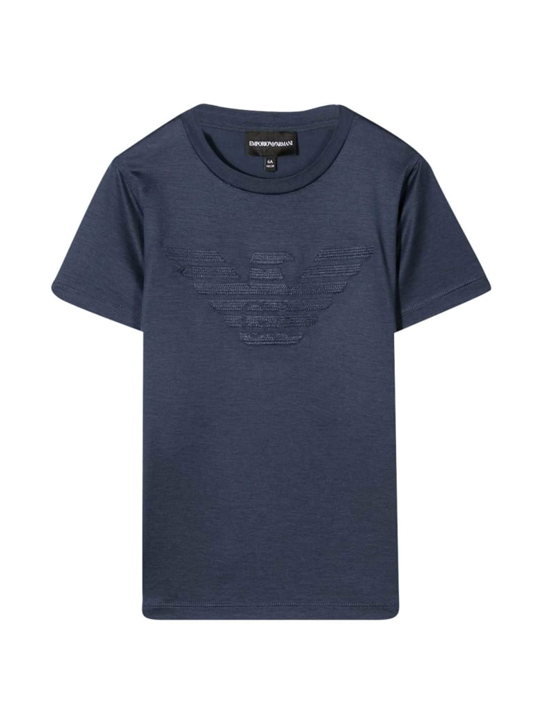 Emporio Armani Blue Teen T-shirt - Indaco