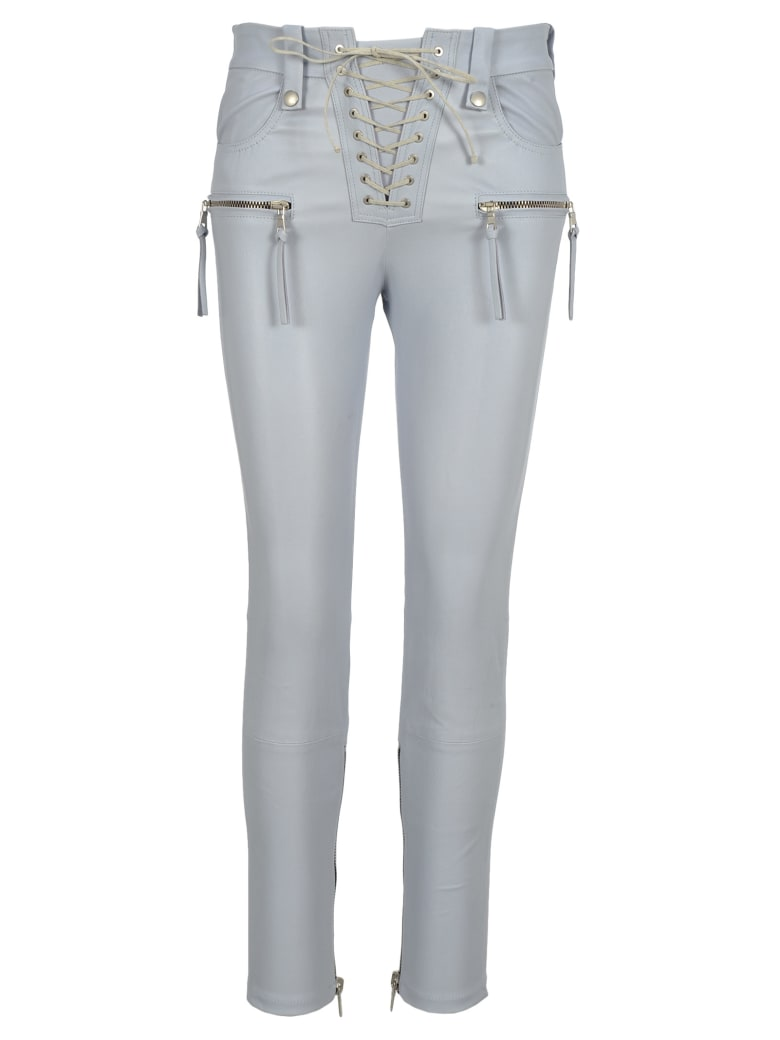 Ben Taverniti Unravel Project Unravel Unravel Project Plonge Lace-up Skinny Pants - LIGHT GREY