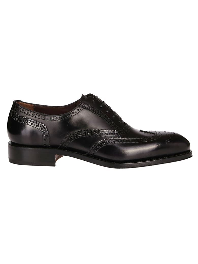 Salvatore Ferragamo Black Leather Formal Shoes - Black