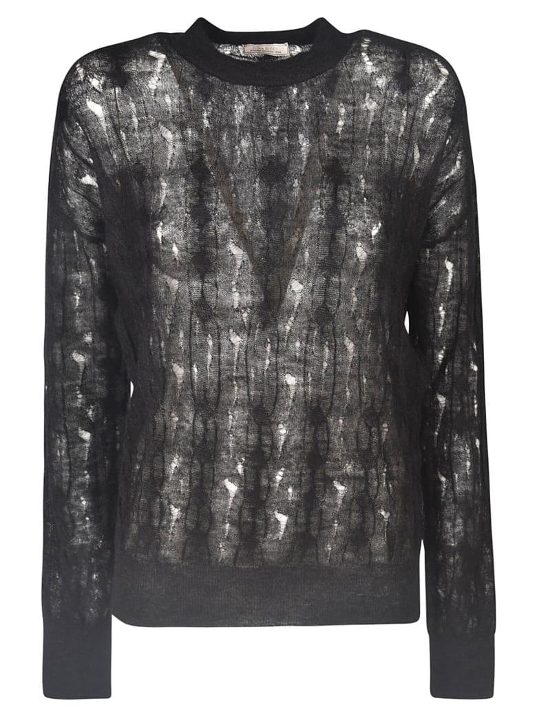 Nina Ricci Semi See-through Detail Jumper - Black