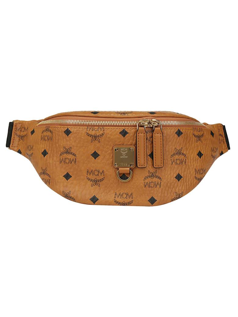 MCM Furstens Belt Bag - Cognac