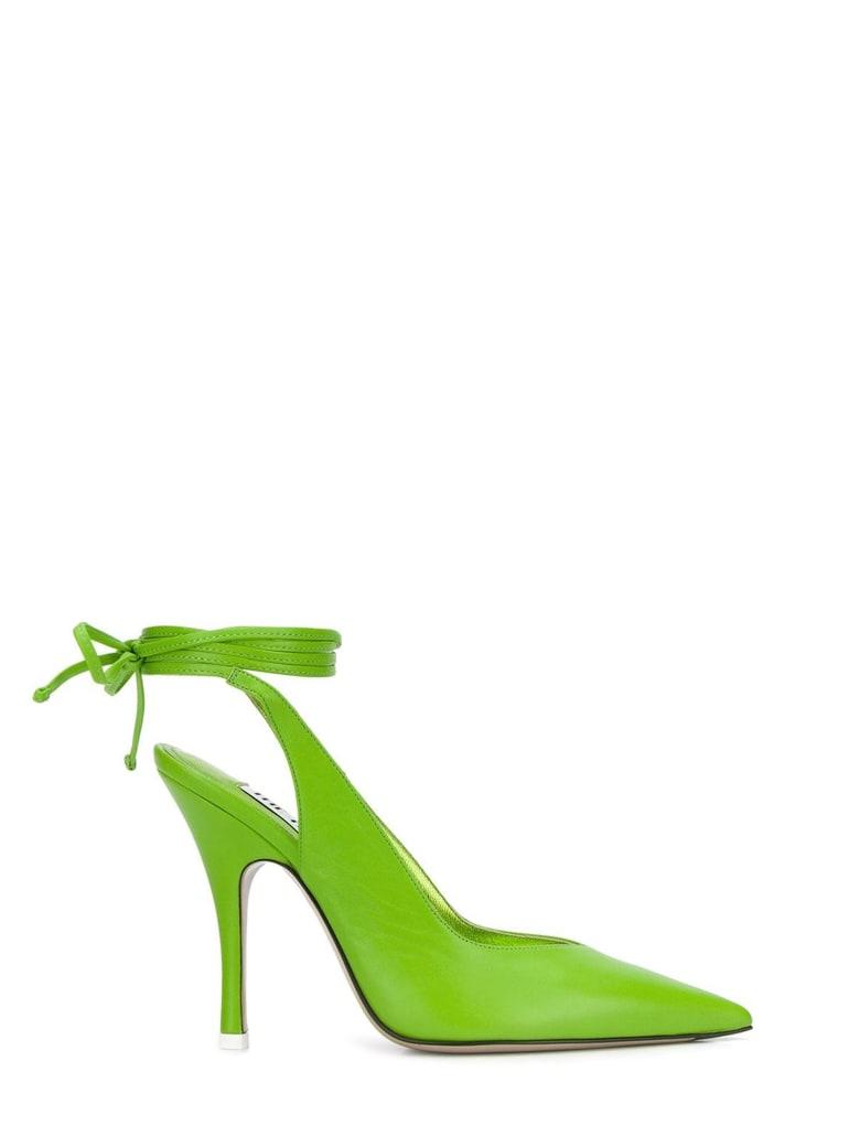 The Attico Venus Pumps - Green