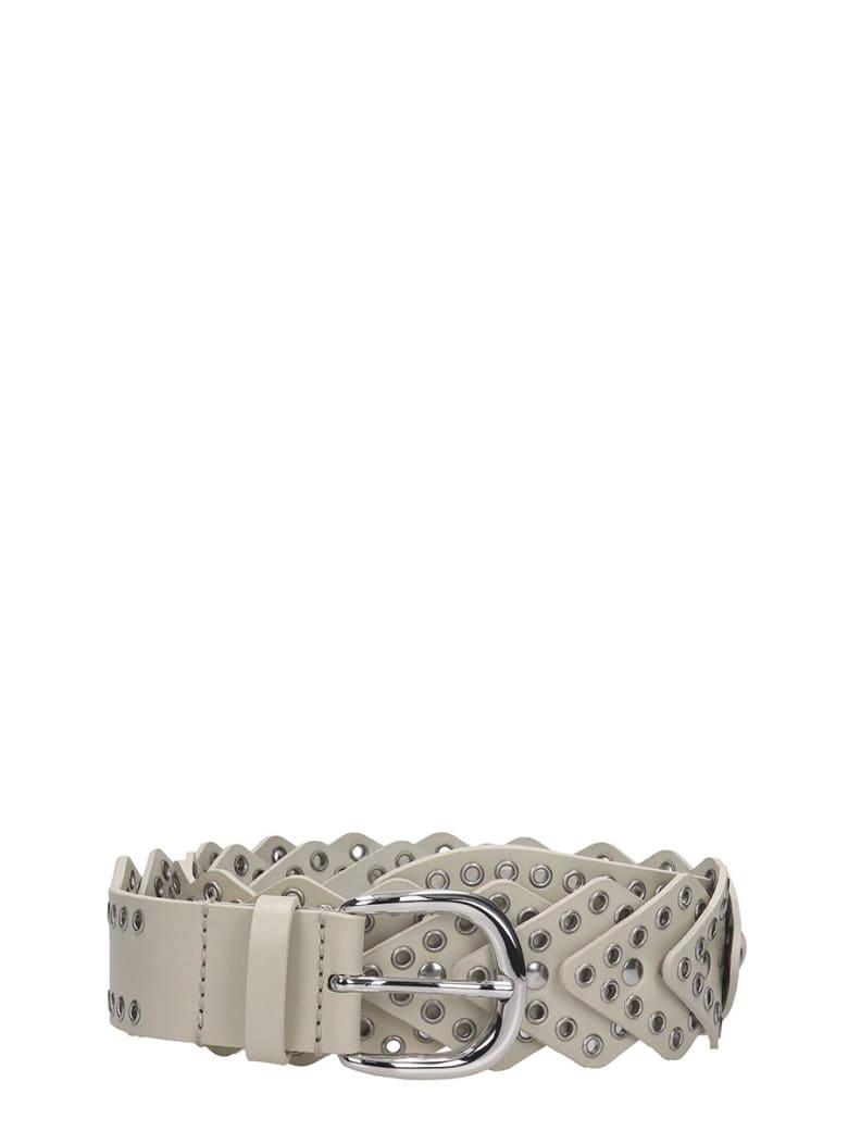 Isabel Marant Nowy Belts In Beige Leather - beige
