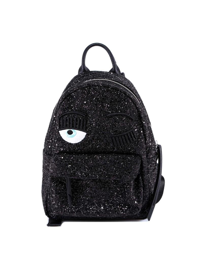 Chiara Ferragni Backpack Glitter Small - Black