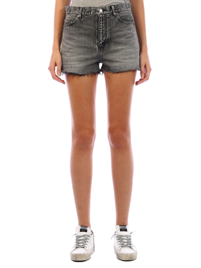 Saint Laurent Black Denim Shorts - Black