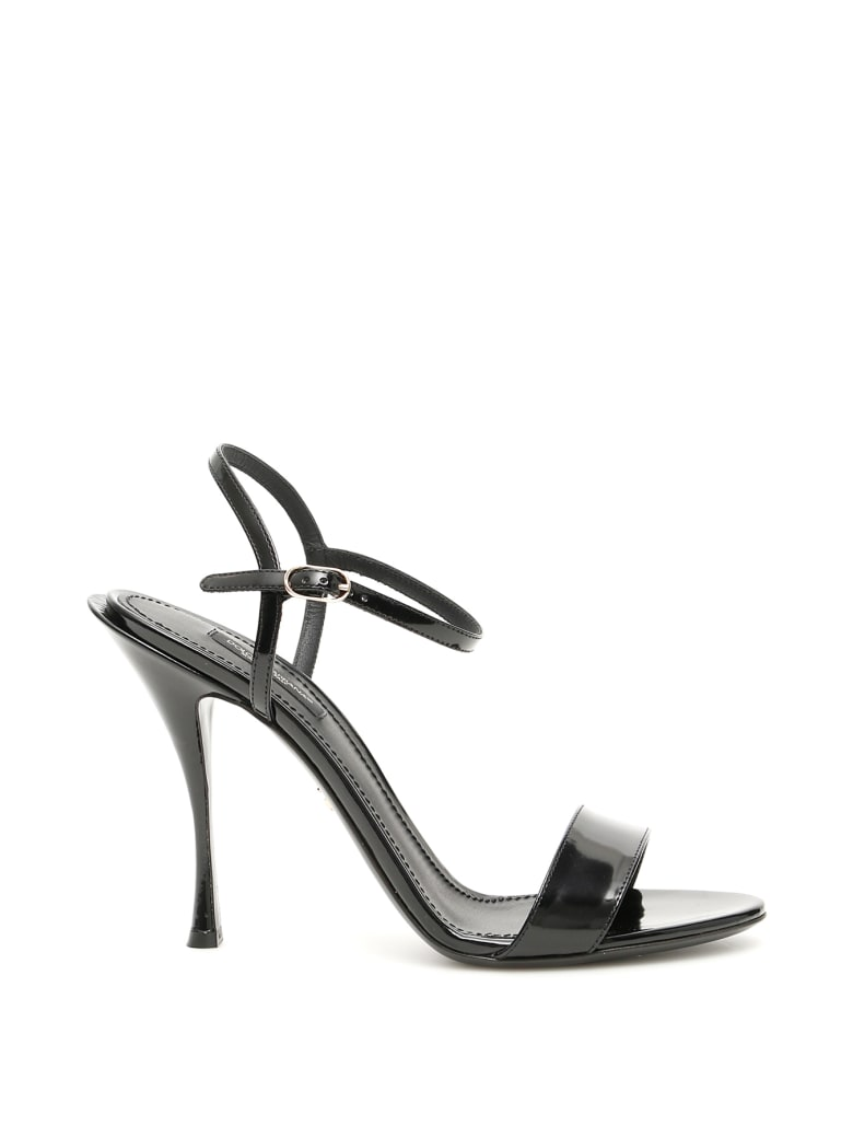 Dolce & Gabbana Keira Calfskin Sandals - NERO (Black)