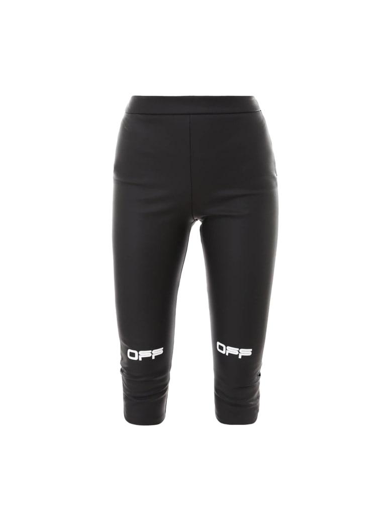 Off-White Active Capri Pant Leggings - Blackwhite