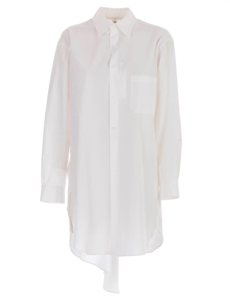 Y's Back Draped Shirt - White