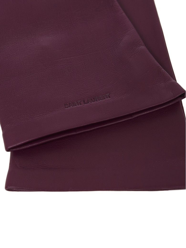 Saint Laurent Gloves - Purple