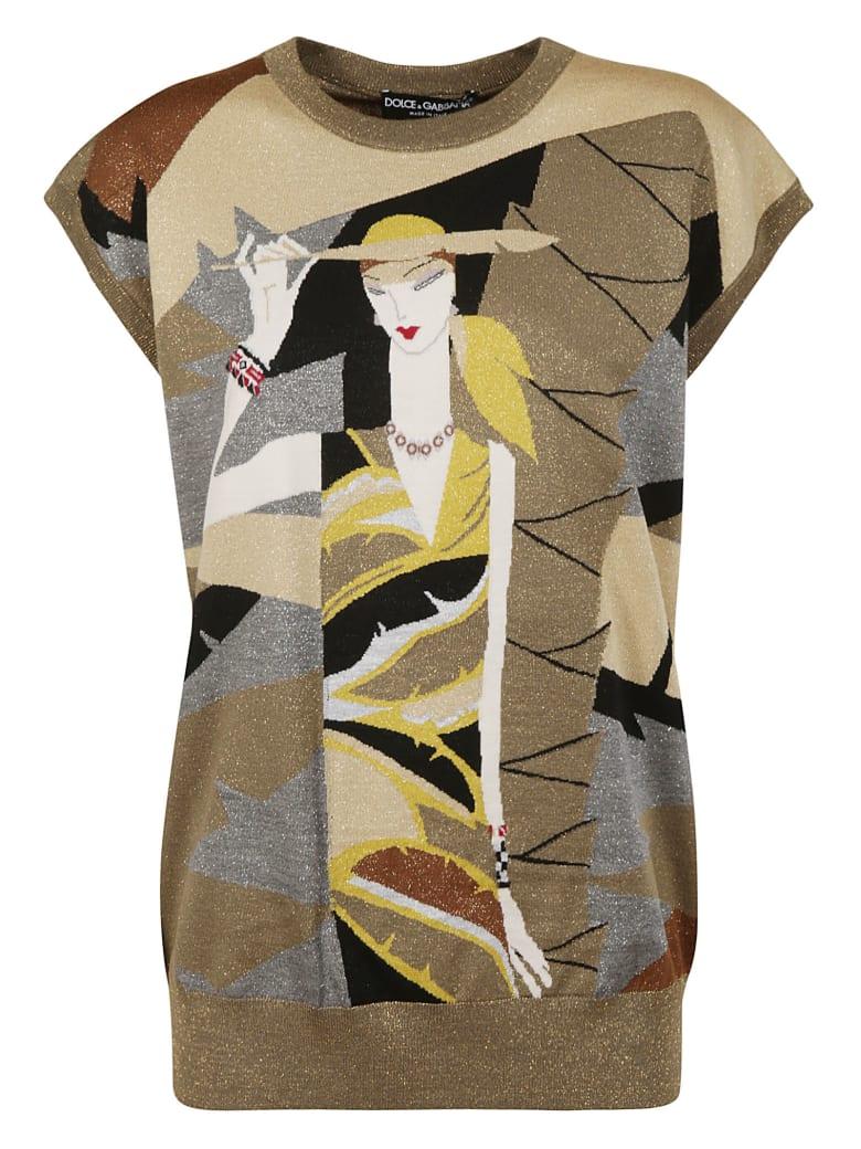 Dolce & Gabbana Knit Sleeveless Top - multicolored