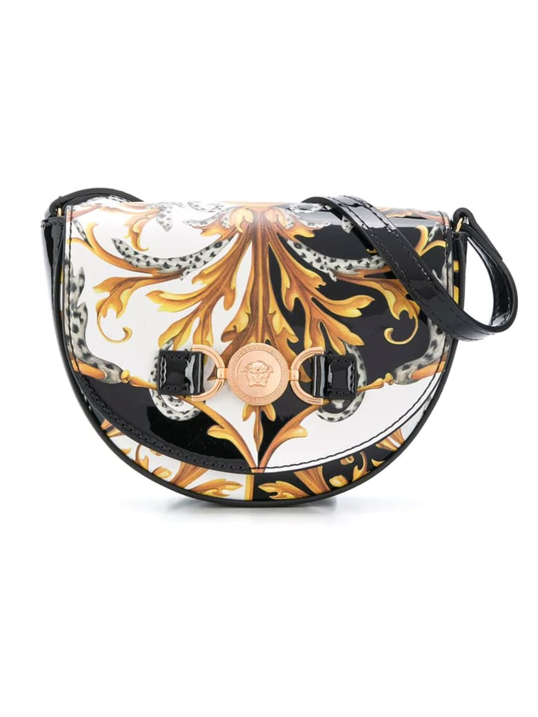 Young Versace Shoulder Bag With Print - Nero/oro