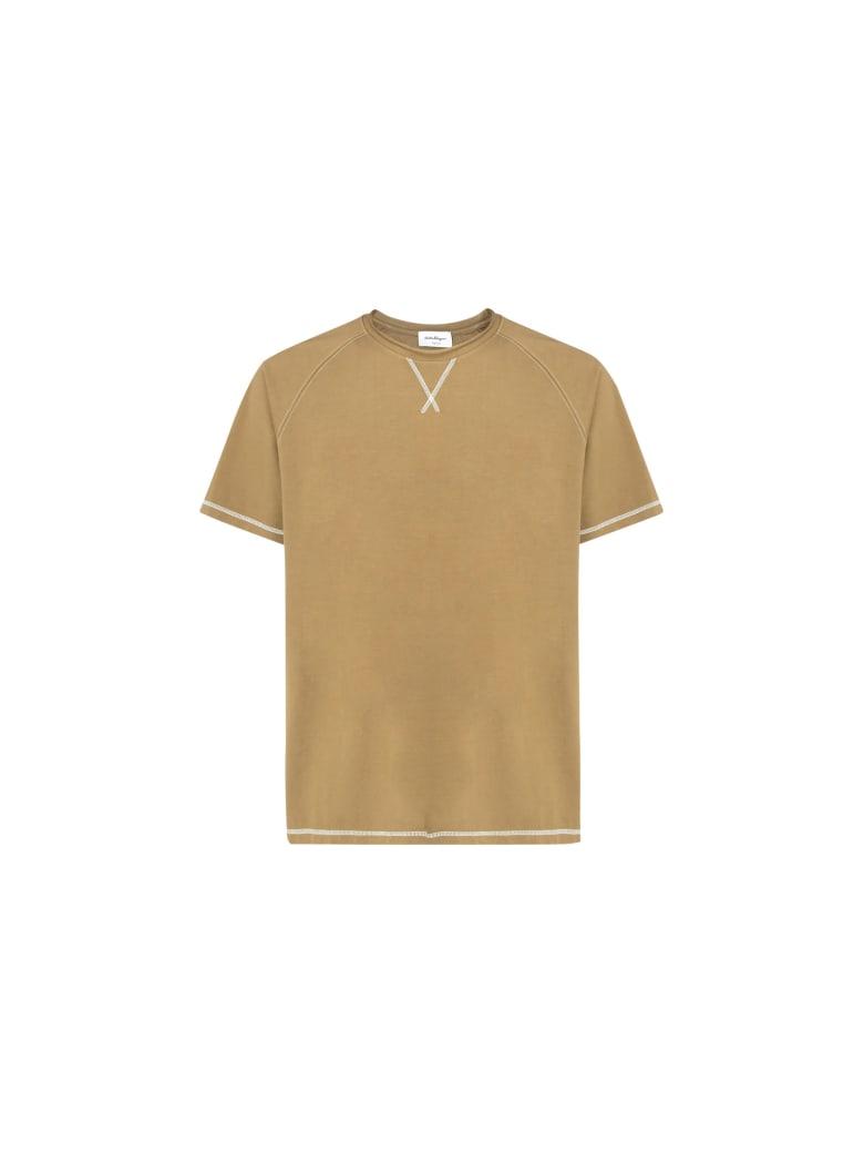Salvatore Ferragamo T-shirt - Khaki_oak