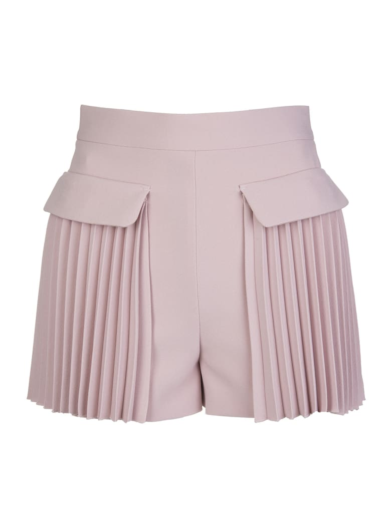 RED Valentino Rose Pleated Shorts - Rose