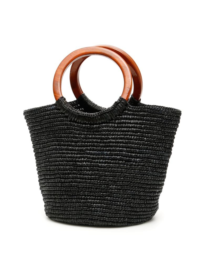 Sensi Studio Wicker Bag - BLACK (Black)