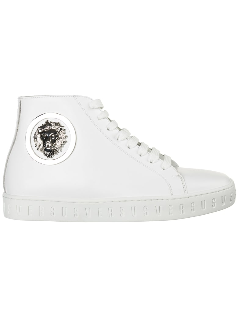 Best price on the market at italist | Versus Versace Versus Versace Shoes  High Top Leather Trainers Sneakers Lion Head