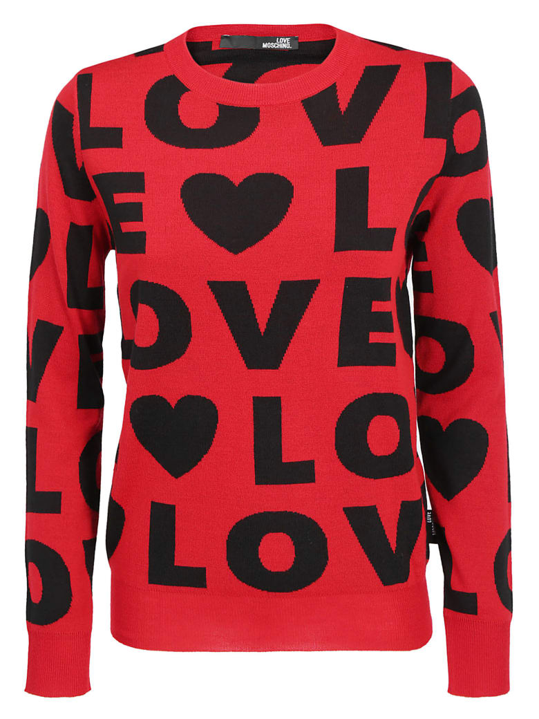 Love Moschino Sweater - Lor w/red